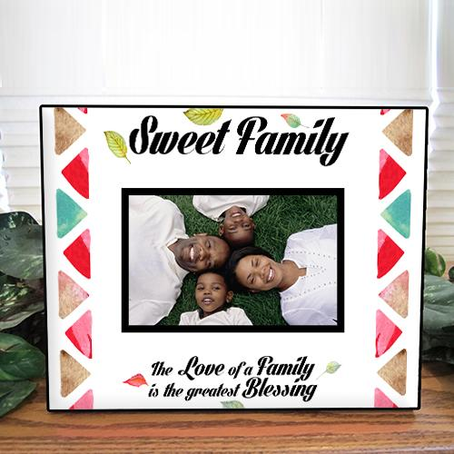 Personalised Sweet Family Photo Frame