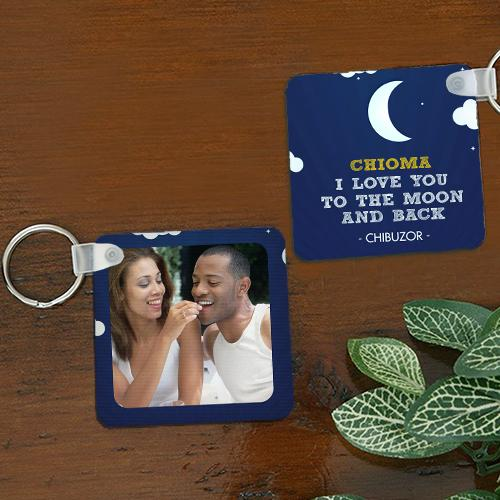 Personalised To The Moon Keyring