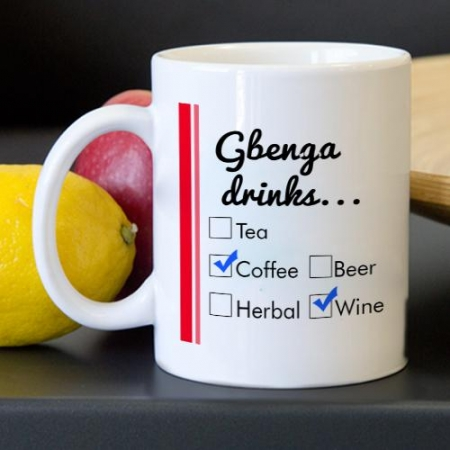 Personalised What Do You Drink Mug
