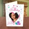 Photo Upload Love Shape & Gift Boxes Birthday Card