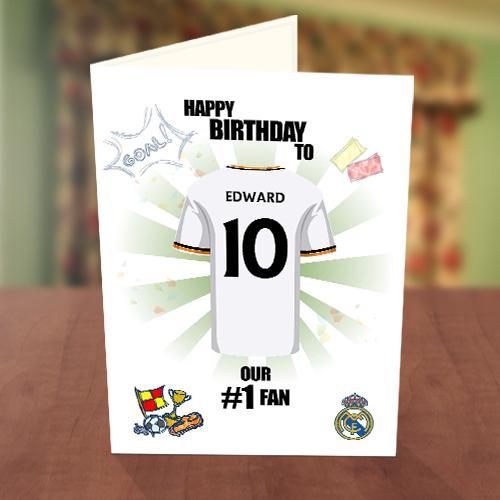 Real Madrid Fan Birthday Card