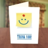 Smiley Stick Note Thank You Card
