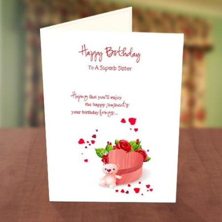 Teddy Bear Gift Box Birthday Card