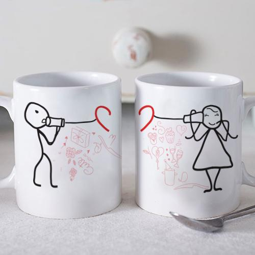 Telephone Love Twin Mugs