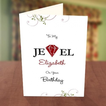 To My Jewel Birthday Card
