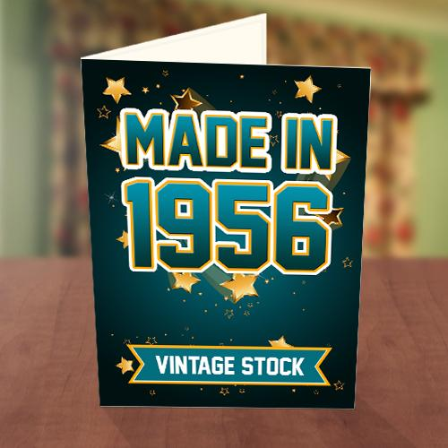 Vintage Stock Birthday Card Front