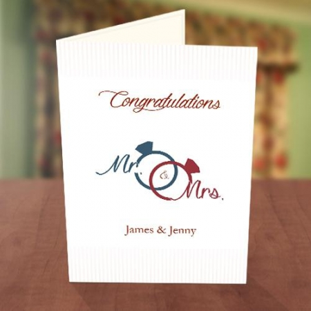 Wedding Ring Congratulations Card