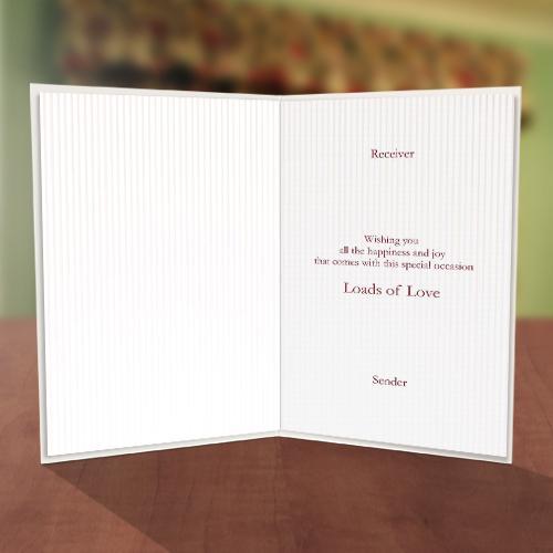 Wedding Ring Congratulations Card Inner