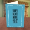You Worth Much More Than You Think Encouragement Card