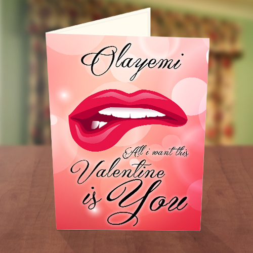 Hot lips Valentine Card