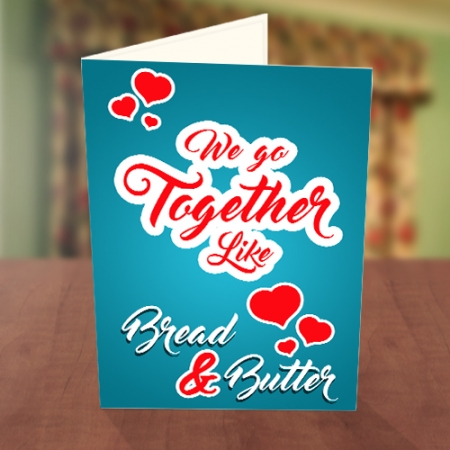 Bread and Butter Valentine Card