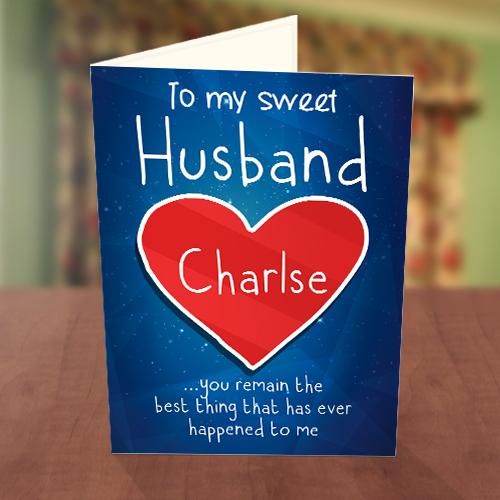 my sweet husband valentine card • greetings world