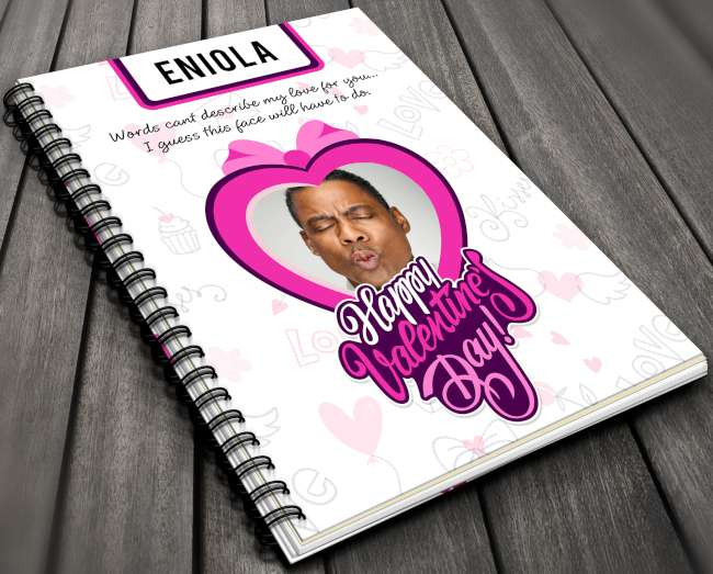 Goofy face Valentine Notebook for Her