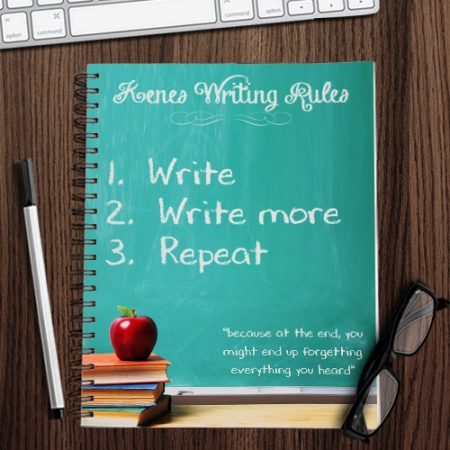 Personalised Writing Rules Notebook