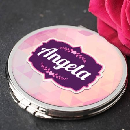 Personalised Purple Pink Mirror