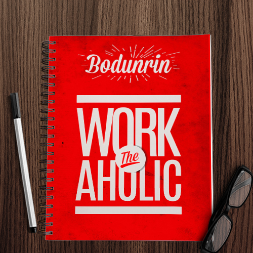 Personalised Workaholic Notebook