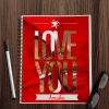 Love You Photo Upload Notebook