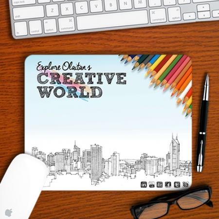 Personalised Creative World Mousepad