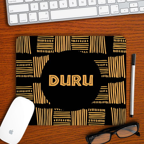 Personalised African Print Mousepad
