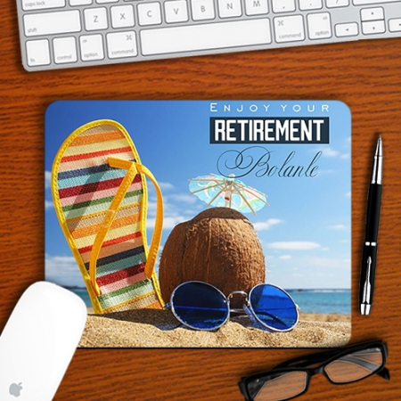 Personalised Beach Retirement Mousepad