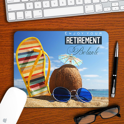 Personalised Beach Retirement Mousepad