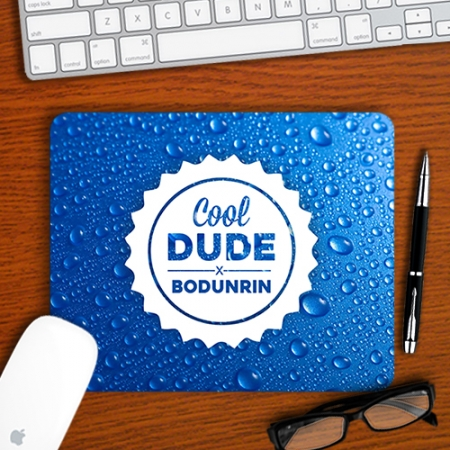 Personalised Cool Dude Mouse pad