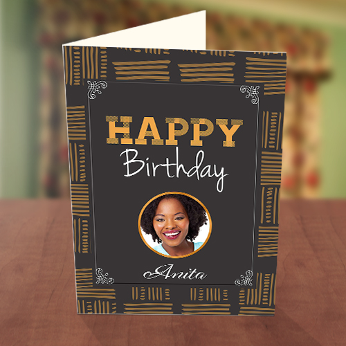 African Pattern Birthday Card