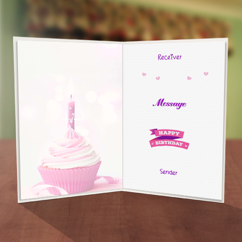 Personalised Cupcake Candle Birthday Card