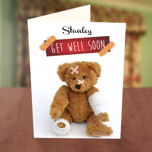 Get well teddy card