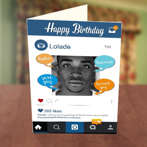 Personalised Instagram Birthday Card