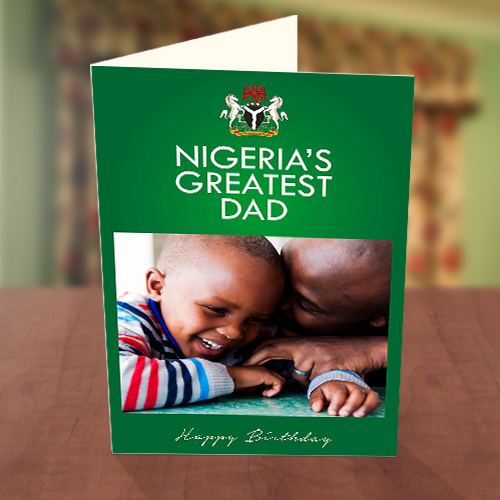 Naija's Greatest Dad Birthday Card