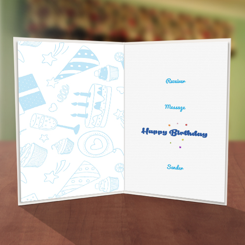 Plus One Balloon Birthday Card