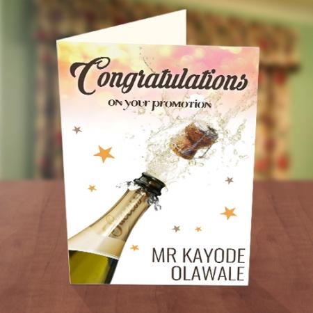 Congratulations Champagne Pop Card