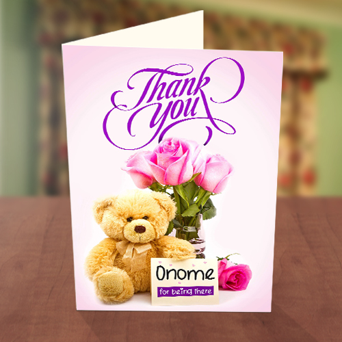 Personalised Floral Thank You Card