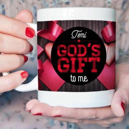 Personalised God's Gift Mug