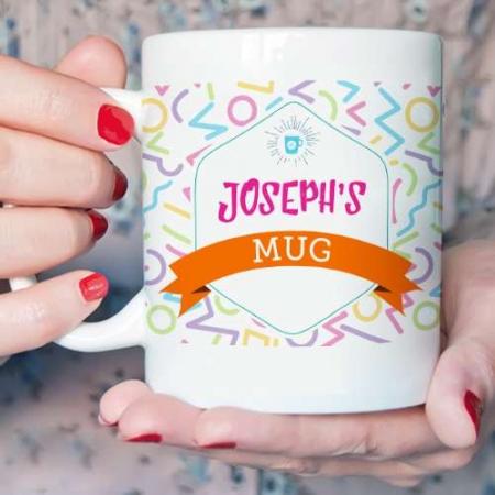 Personalised Memphis Pattern Mug