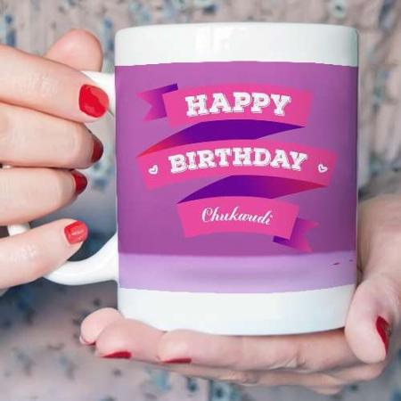 Personalised Birthday Cake Mug