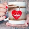 Personalised Lock heart Mug