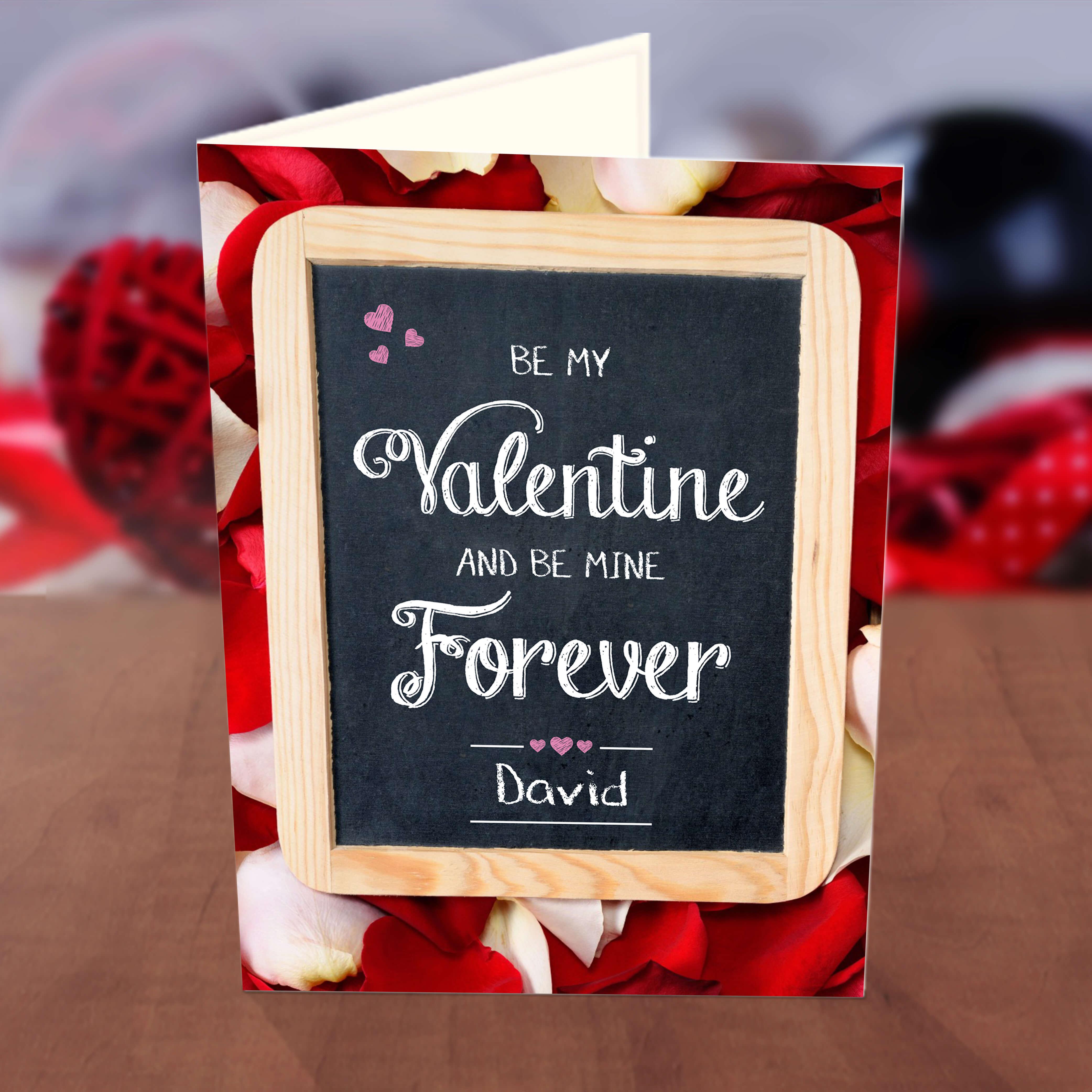 personalised love board valentine card • greetings world