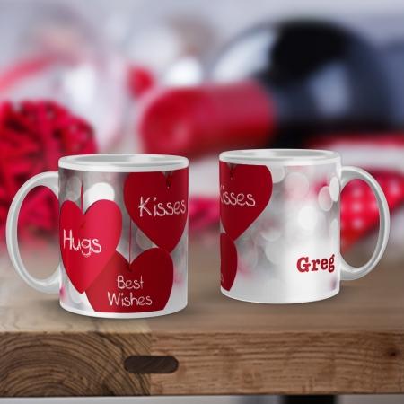 Personalised Hugs and Kisses Mug
