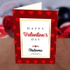 Personalised Love Patterned Valentine Card