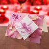 Personalised Petals and Gift box Valentine card