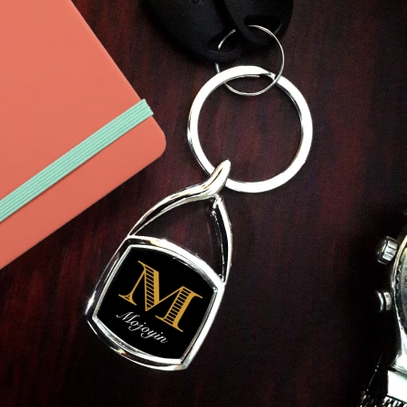Metal Square Keyrings
