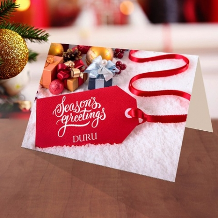 Personalised Christmas gift boxes Card